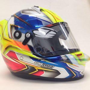 Personalização e pintura de Capacete de Kart